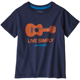 Patagonia Live Simply Organic T-Shirt Kids live simply guitar/neo navy
